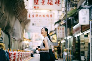 Woman traveling in China