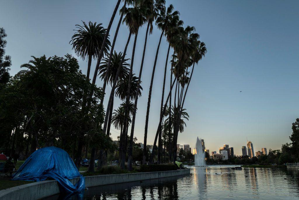 Echo Park Lake in Los Angeles