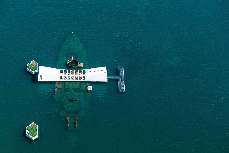 The USS Arizona Memorial in Hawaii