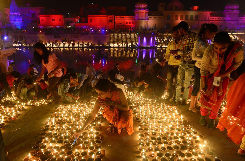 Diwali at Ayodhya.