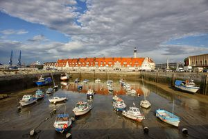 France, Brittany, Calais, Boats at fishing harbour