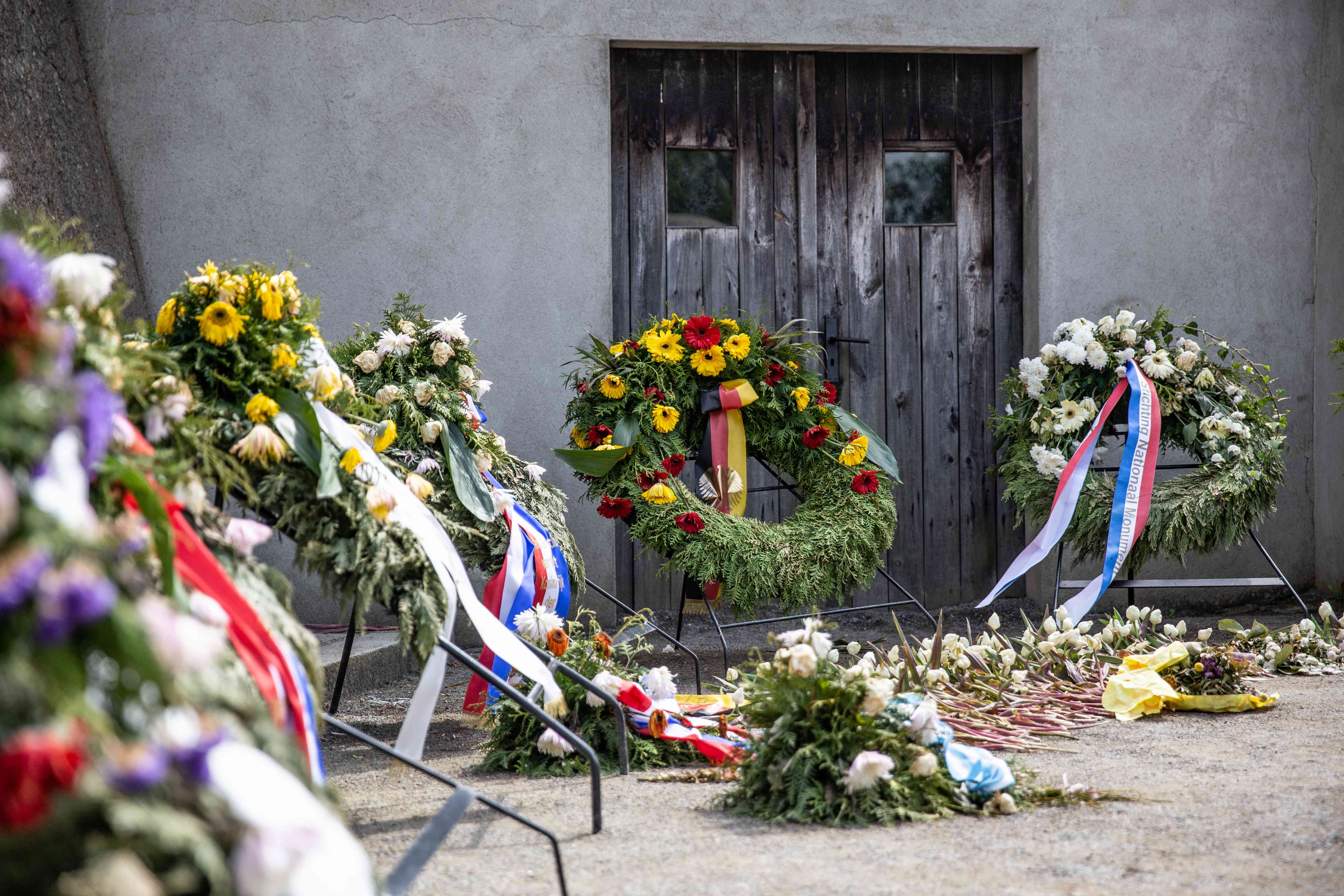 Flowers at Sachsenhausen Concentration Camp