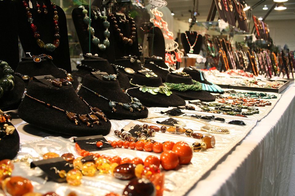 The Big One Flea Market jewelry stand