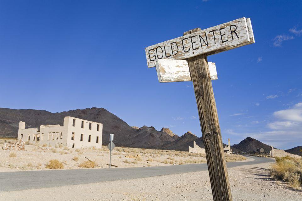 Rhyolite Ghost Town Near Death Valley