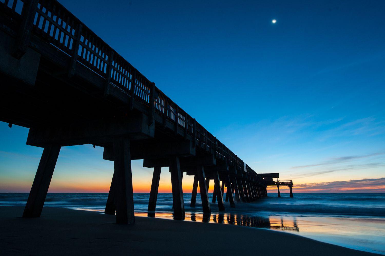 Sunrise at Tybee Island Pier near Savannah