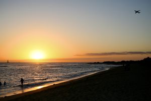 Scenic View Of Sea Against Sky During Sunset in hawaii