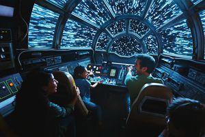 Millennium Falcon Disney parks ride cockpit