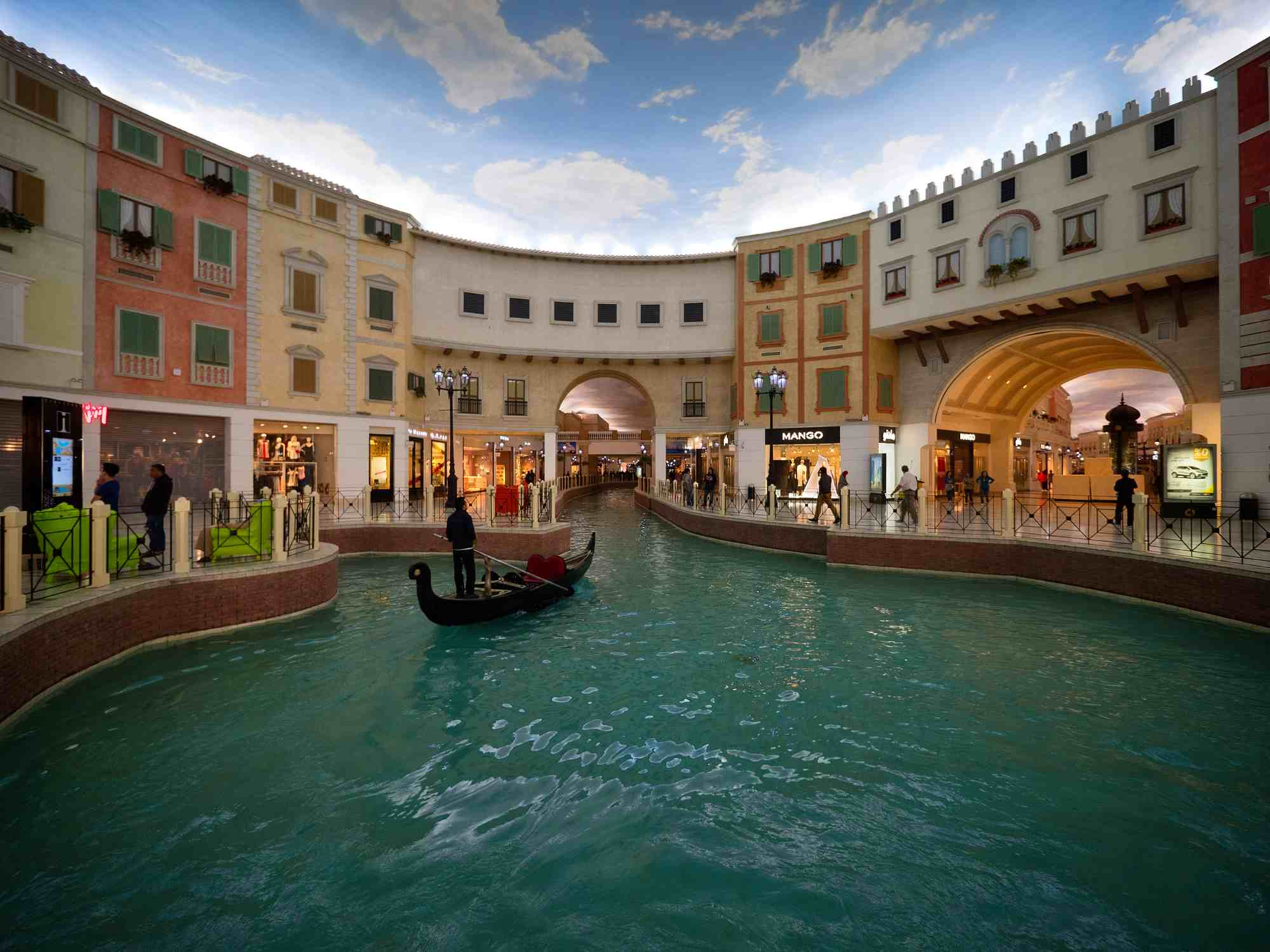 Gondola inside the Villaggio Mall, Doha, Qatar