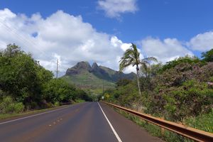 Road on Hawaii Island
