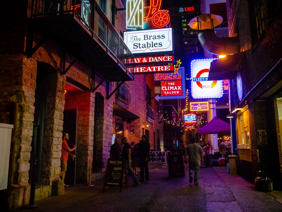 Signs on Printers Alley