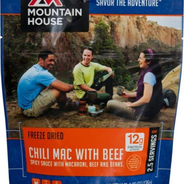 Mountain House Chili Mac con carne de res