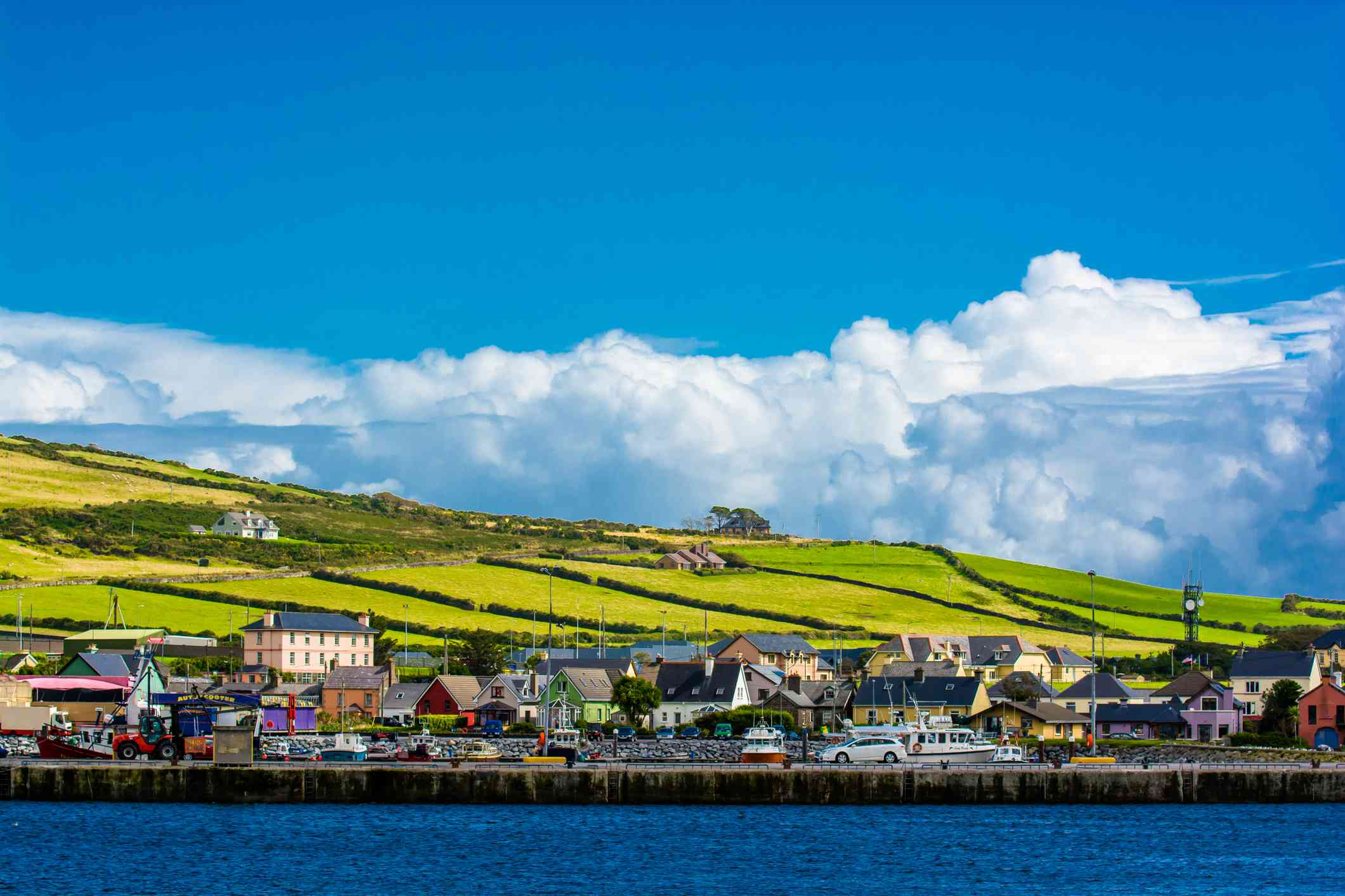 Harbor at the Coast of Dingle in Ireland
