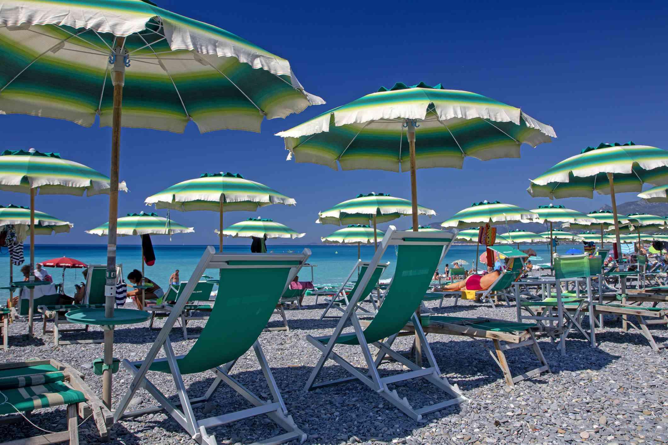 Beach at Bordighera, Liguria