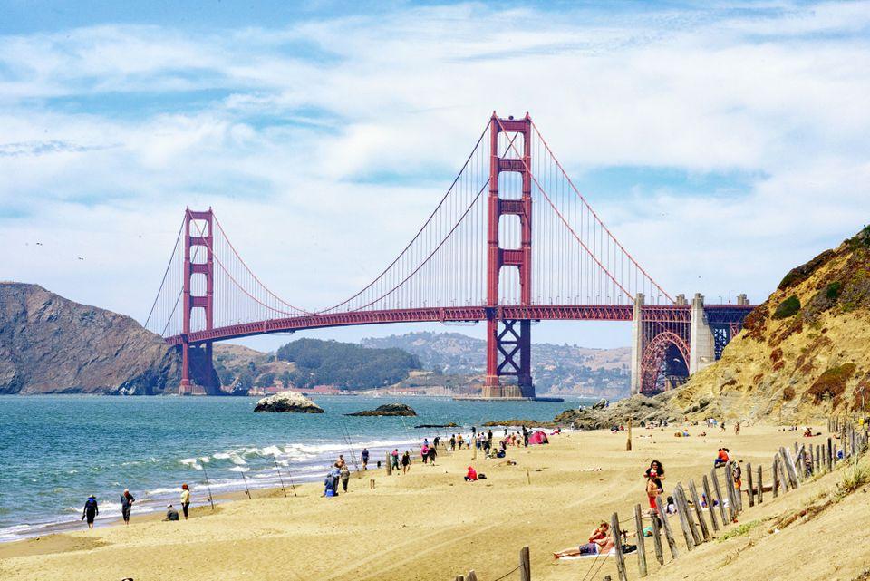 Summer at Baker Beach San Francisco