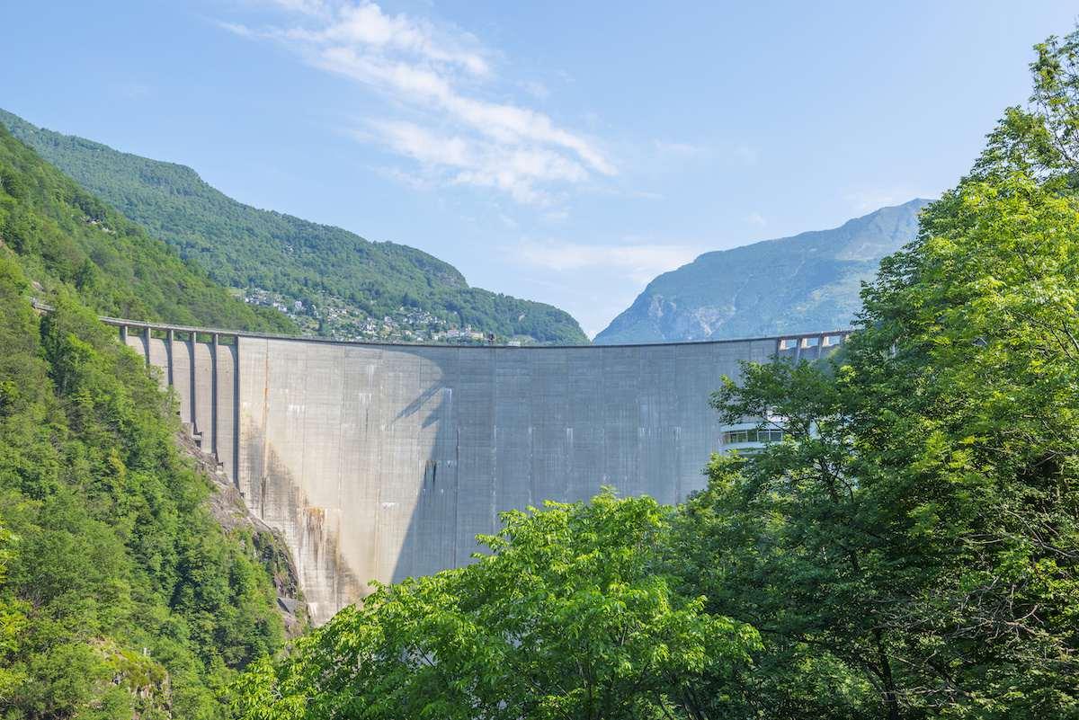 Verzasca Dam in Switzerland