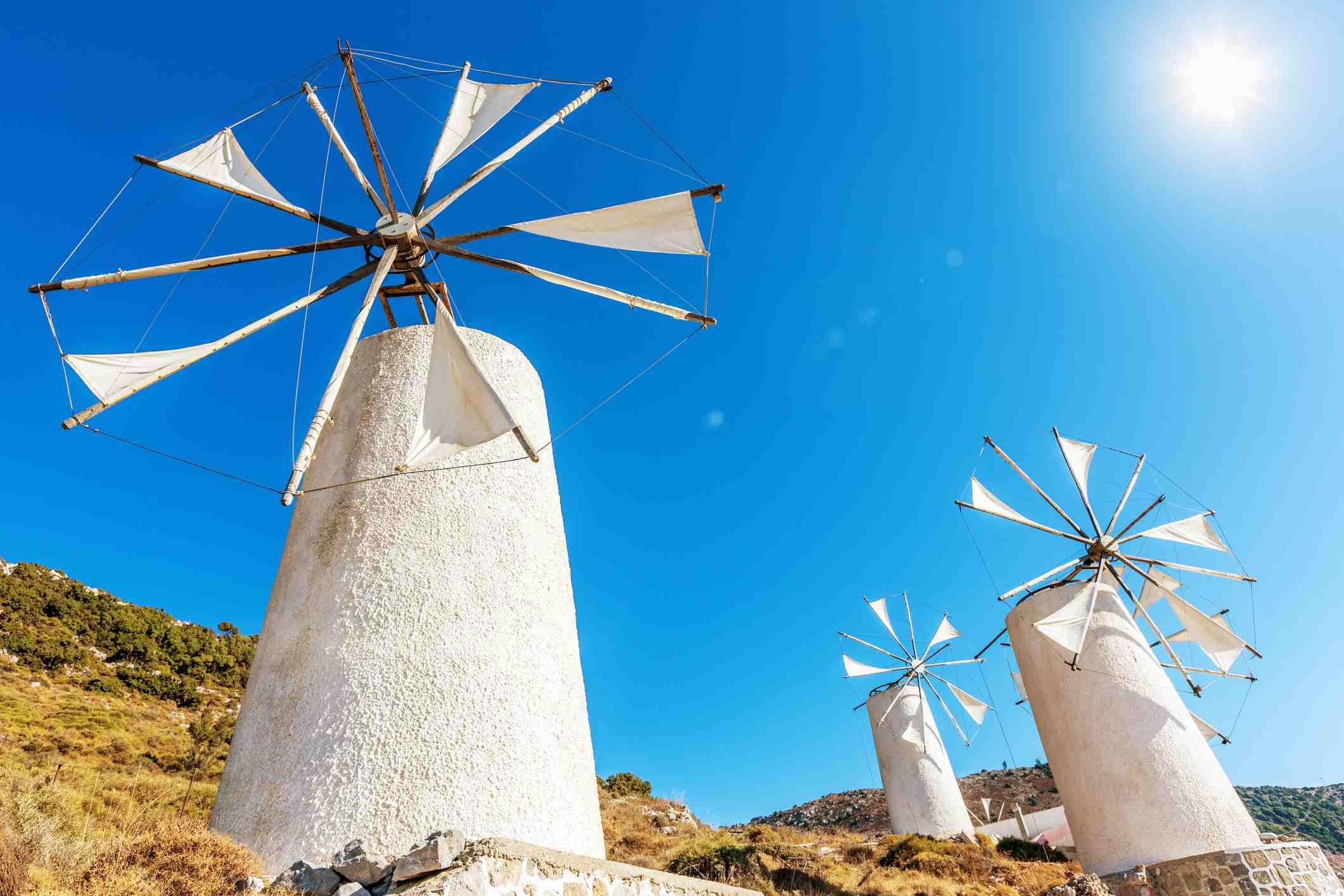 Crete Windmills Greece