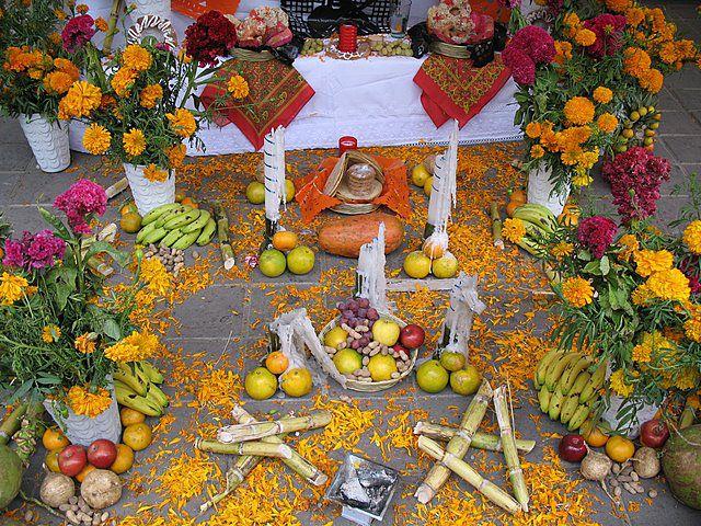 Incense burner in front of the altar