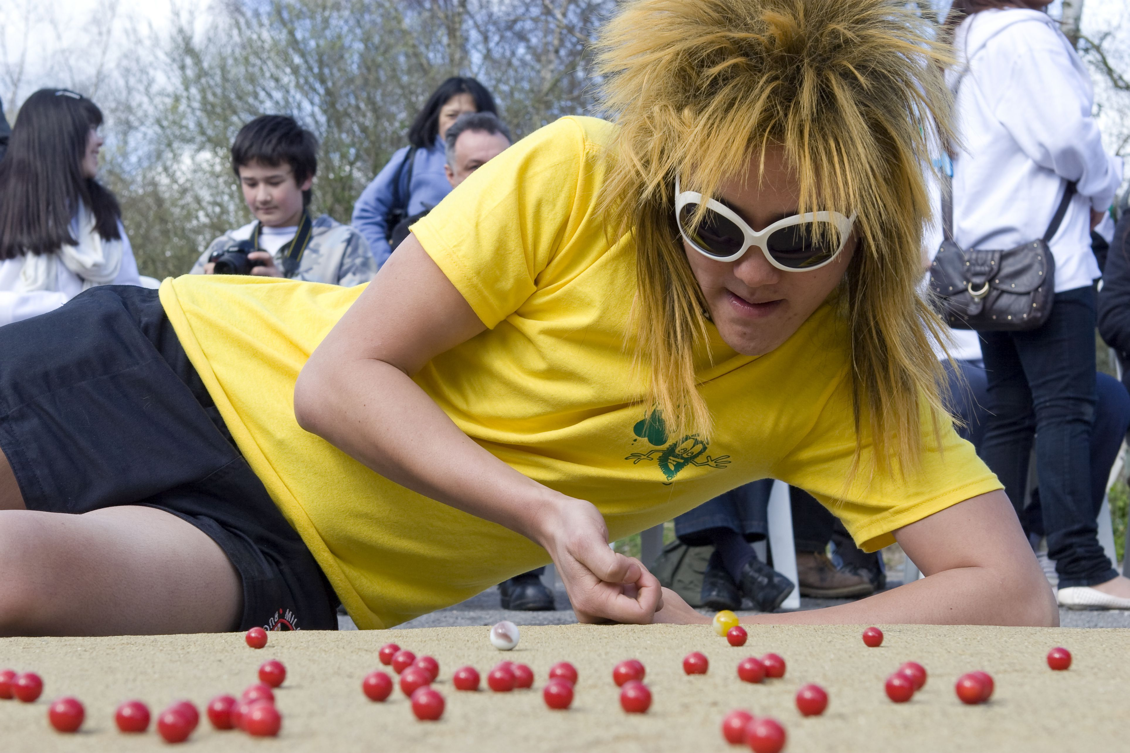 Mibster playing Marbles at the International World Marbles Championship