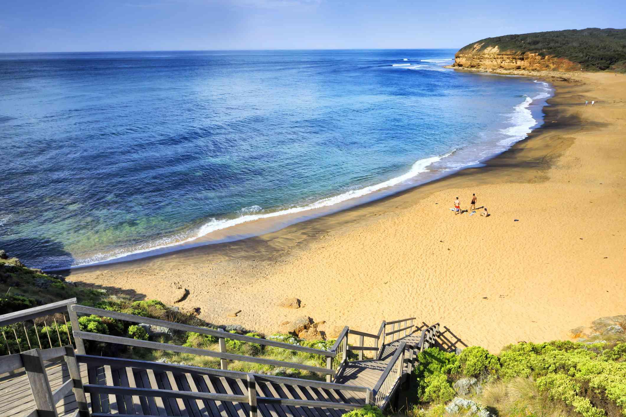 Disfrute en Bells Beach cerca Torquay, Victoria, Australia, Pacífico Sur
