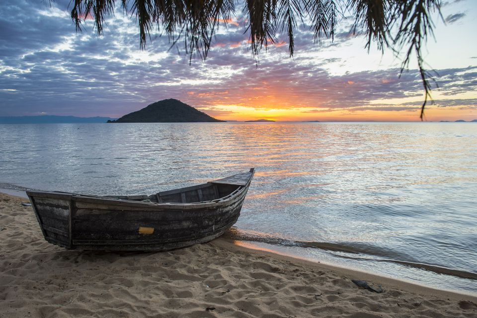 Lake Malawi, Malawi at sunset