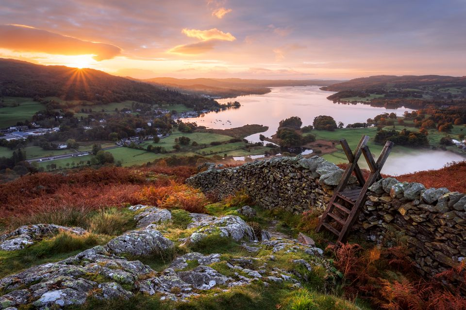 Stile, Loughrigg Fell, Ambleside, Windermere Lake, Lake District, Cumbria, England