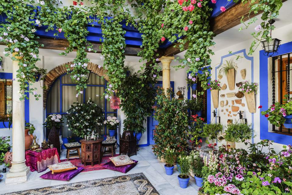 Floral patio in Cordoba, Spain