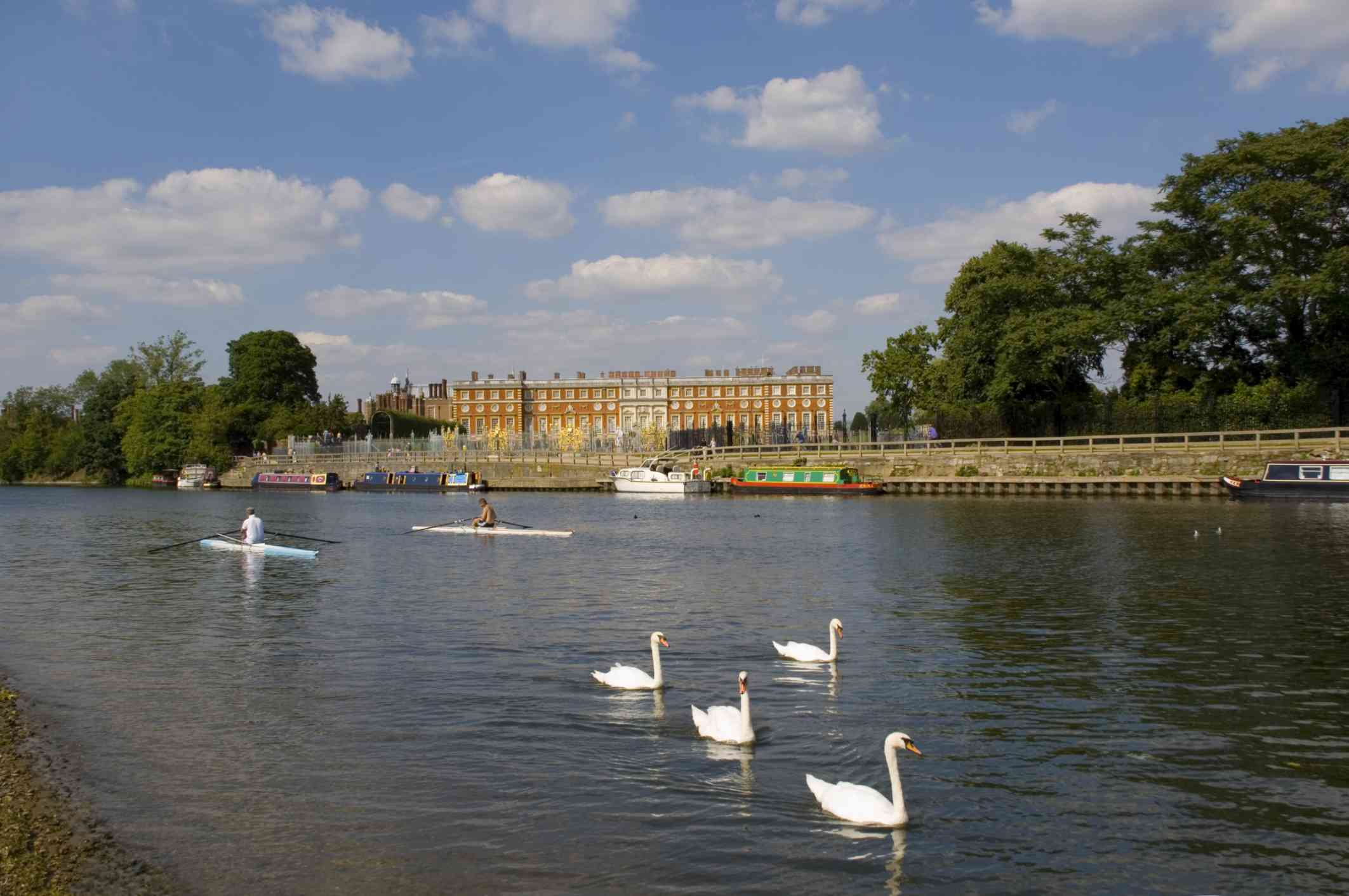 Hampton Court Palace on the River Thames