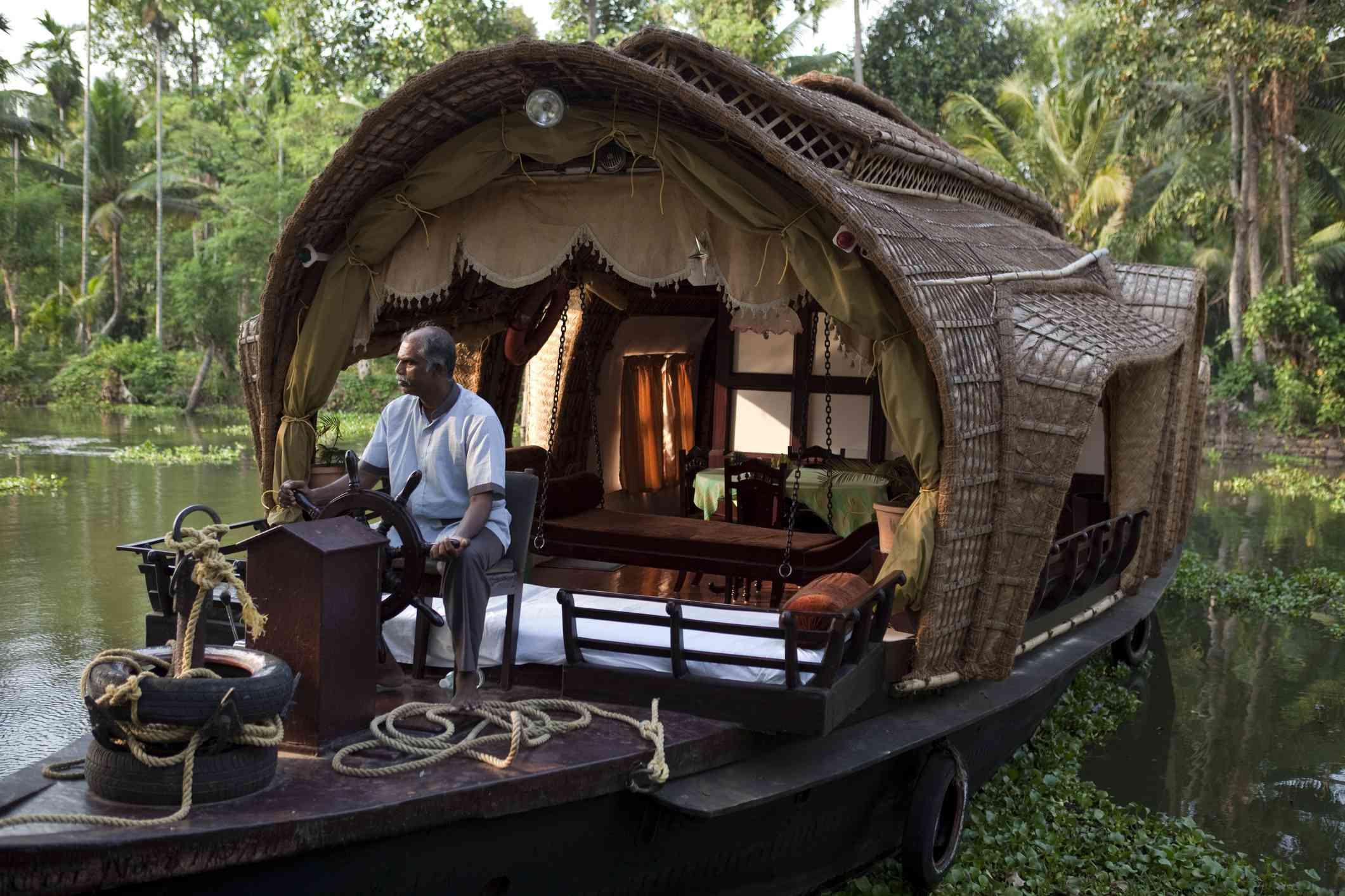 Kerala houseboat.