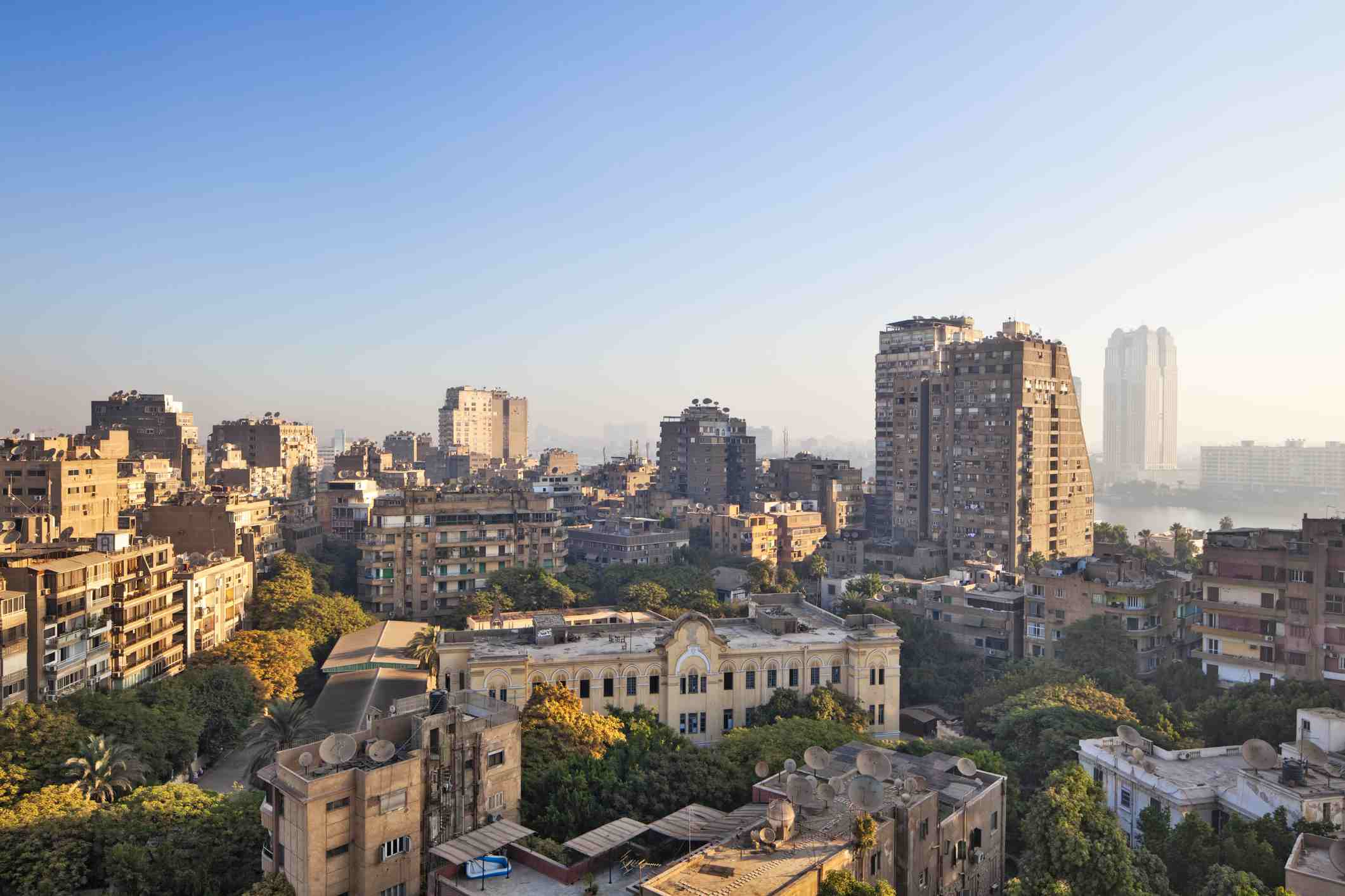 Zamalek district in Cairo, Egypt