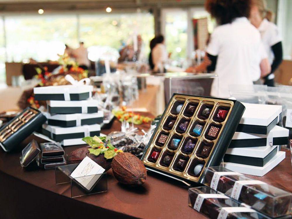 Chocolate display at the Toronto Chocolate Festival