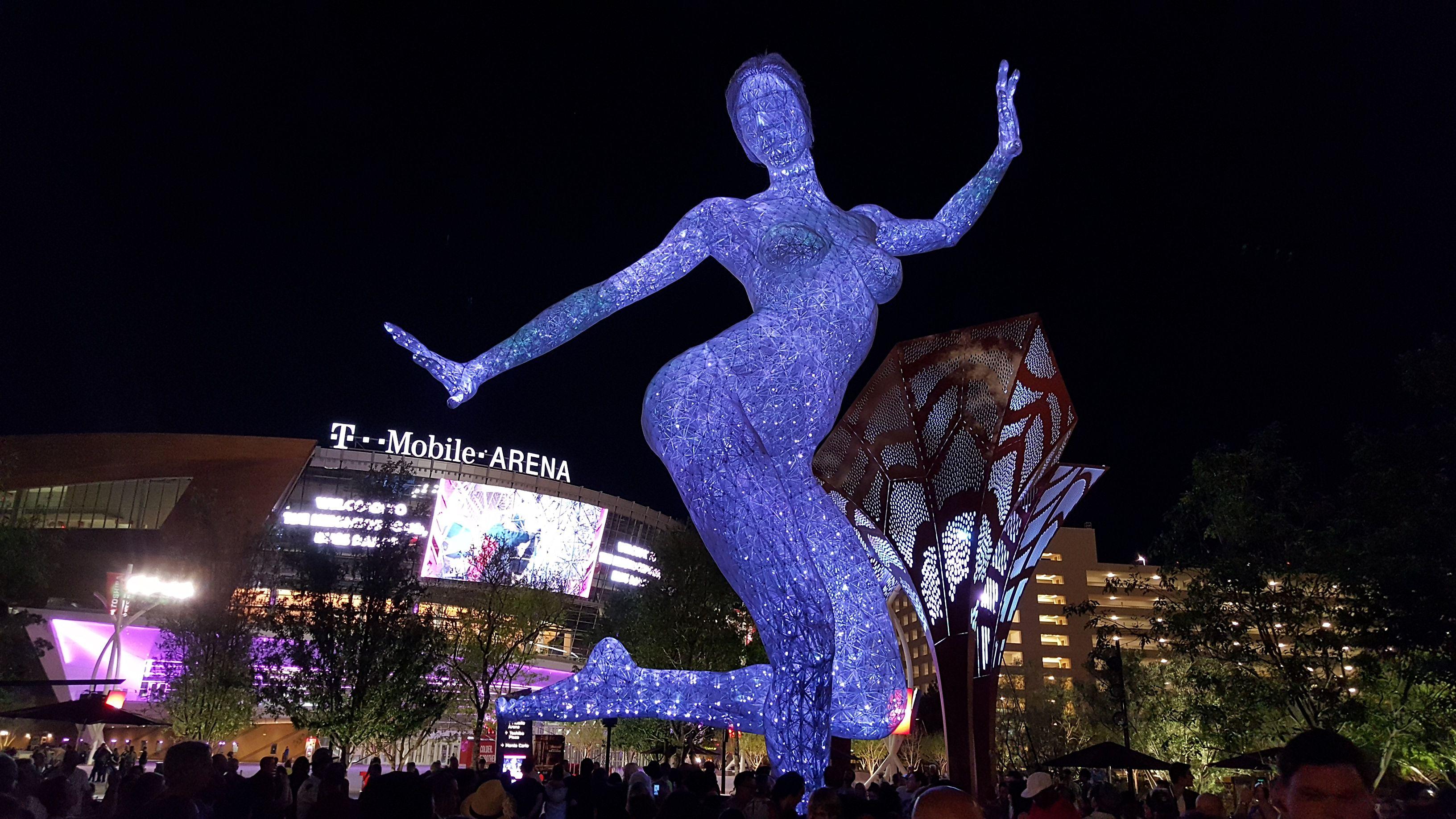 Bliss Dance at Night at T-Mobile Arena Las Vegas