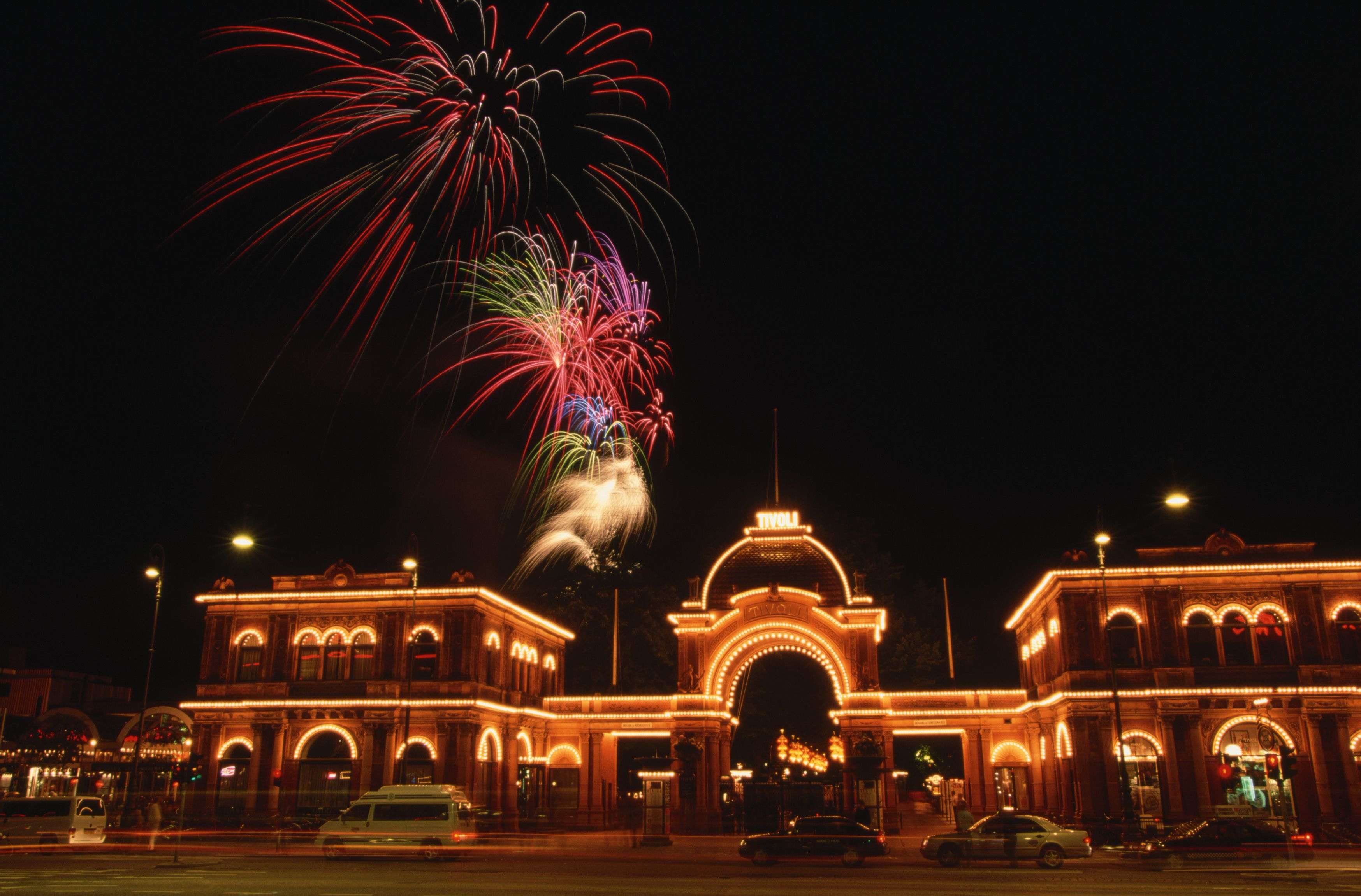 Firework Display Over Tivoli Gardens