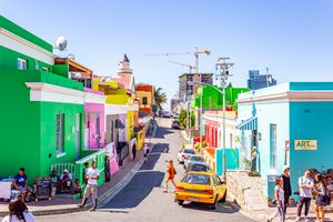 Colorful houses in Bo Kaap Malay Quarter, Cape Town