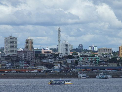 Sailing into Manaus, Brazil on the Seven Seas Mariner