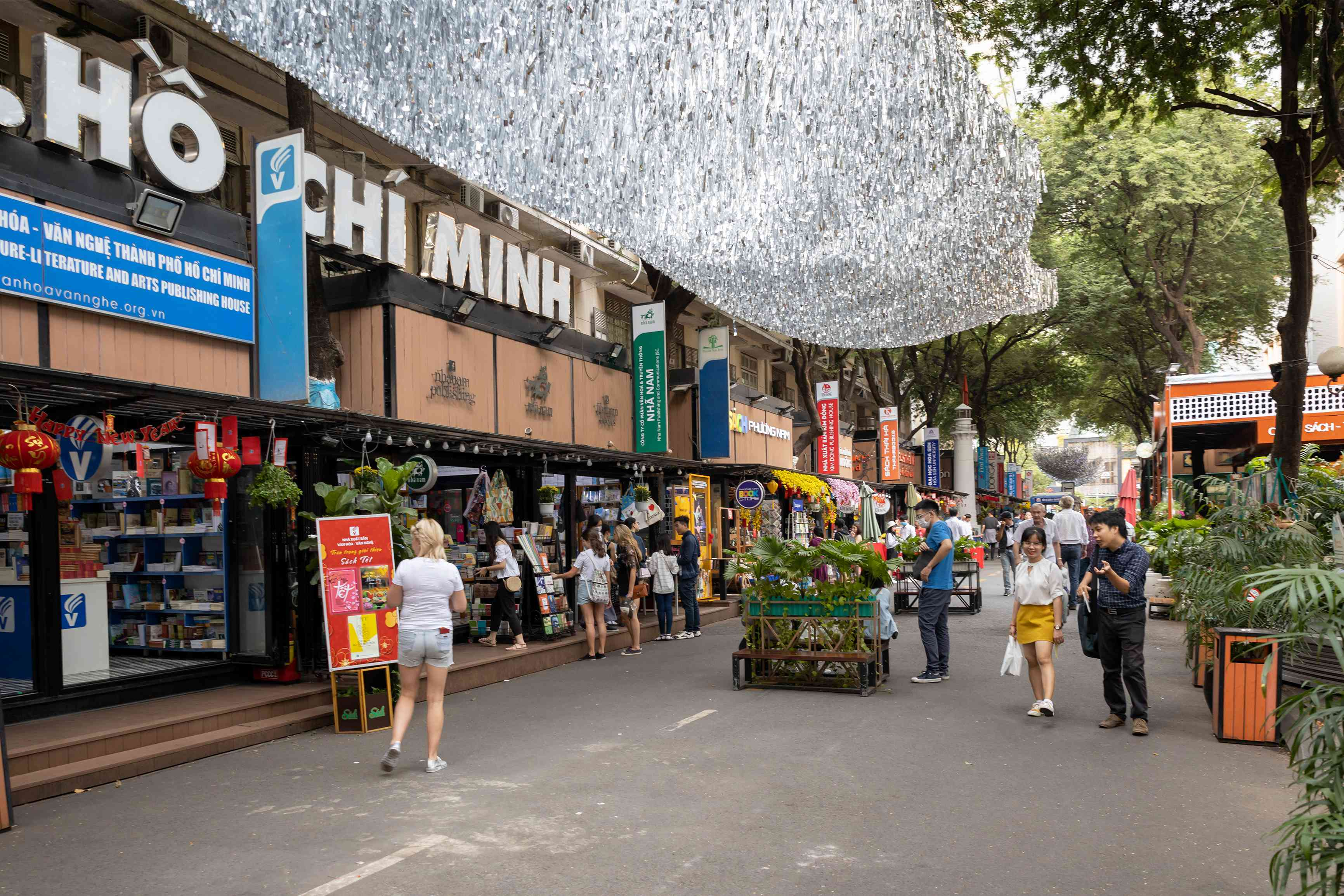 Book Street pedestrianized area in Ho Chi Minh City