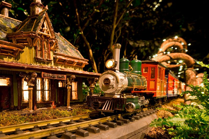 Holiday Train Show en NYBG