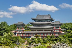 One of South Korea's many vibrant Buddhist temples