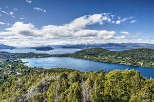 Partial view of Lake Nahuel Huapi in Bariloche.