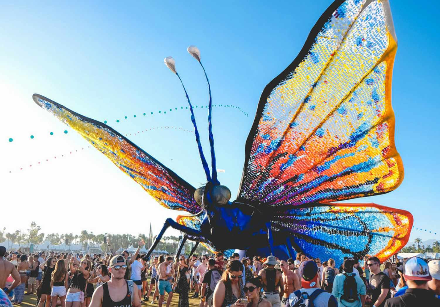 A giant butterfly at New Orleans Jazz & Heritage Festival