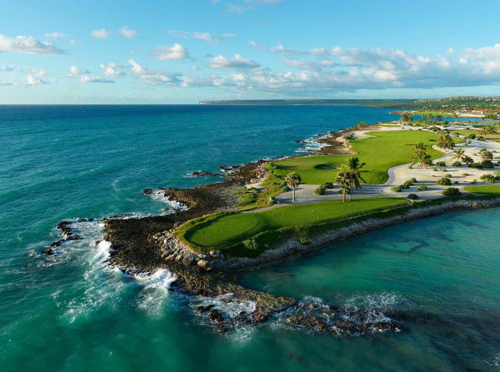The third hole at the newly renovated Punta Espada Golf Club