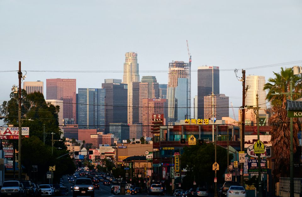 The Los Angeles Skyline from Koreatown