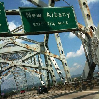 New Albany, Indiana, sign