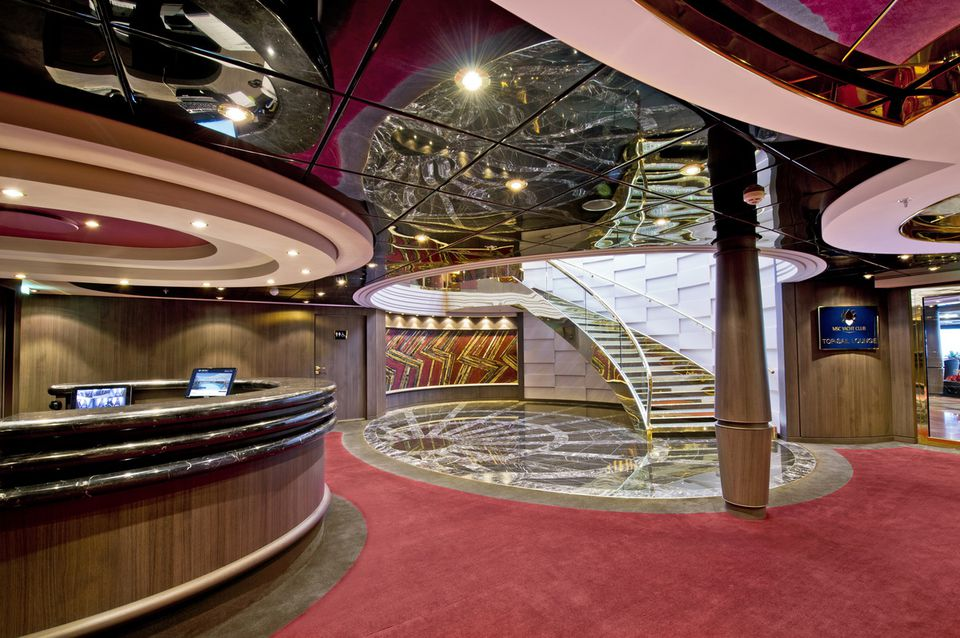 MSC Divina Yacht Club Concierge Desk and Reception Area