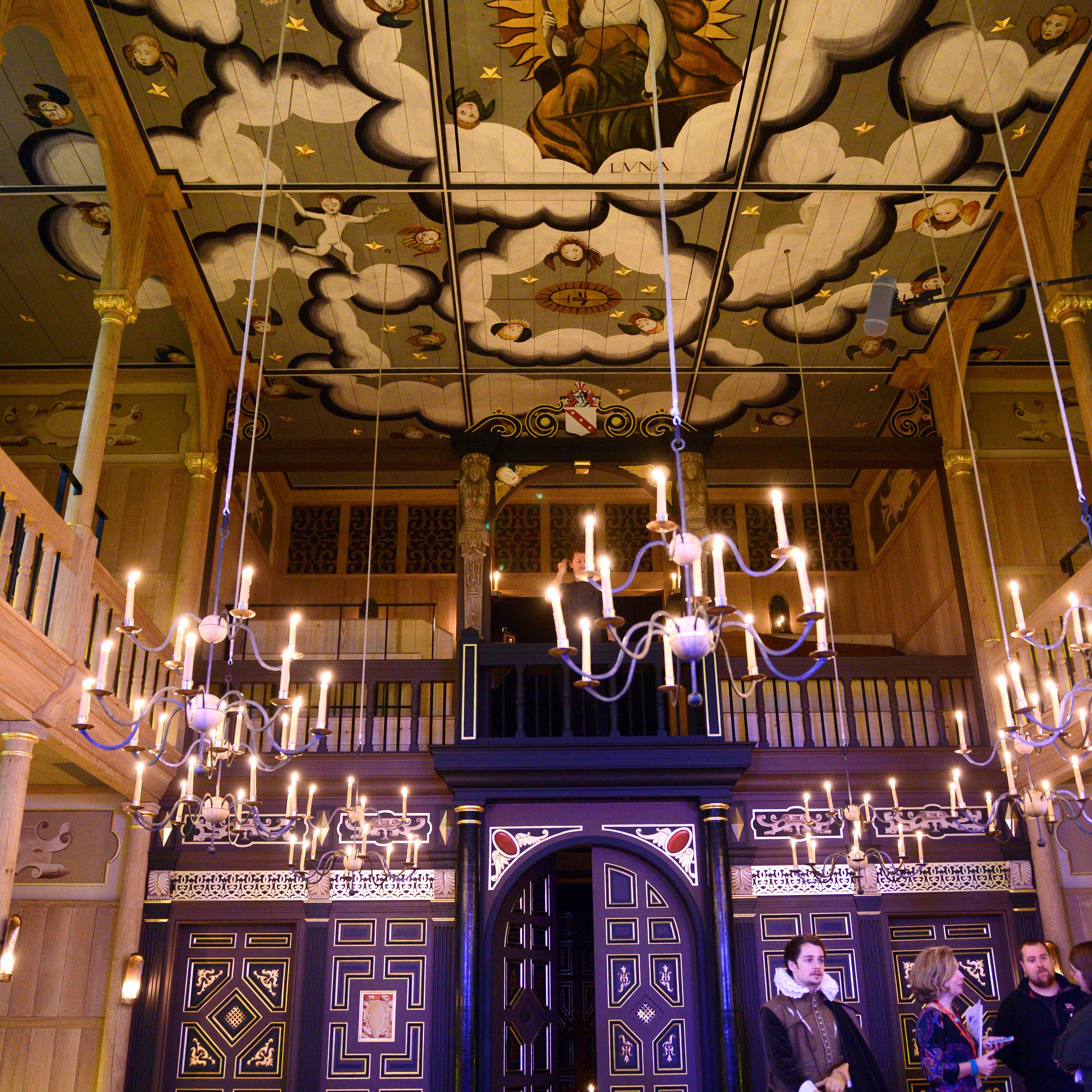 Interior of the Sam Wanamaker Theater at Shakespeare's Globe in London