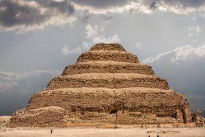 The Pyramid of Djoser at the necropolis of Saqqara in Egypt