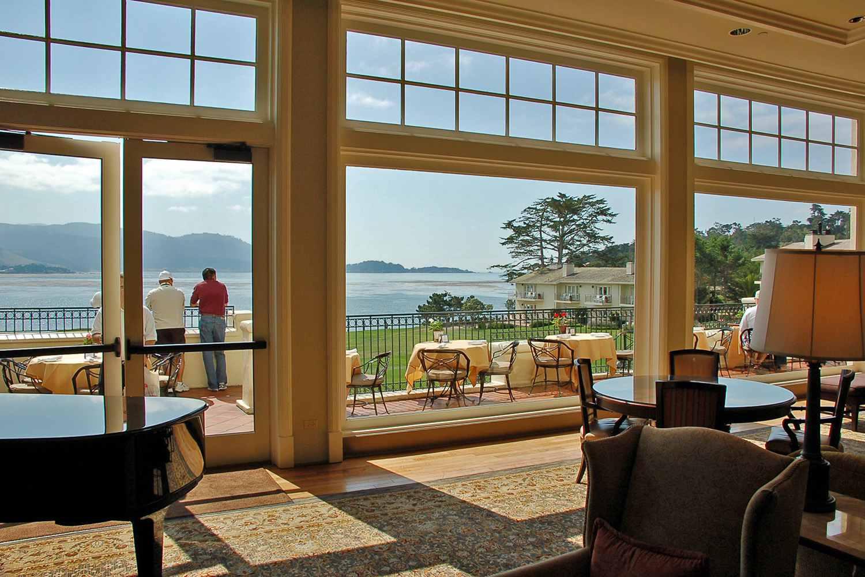 Vista desde el lobby, Lodge en Pebble Beach