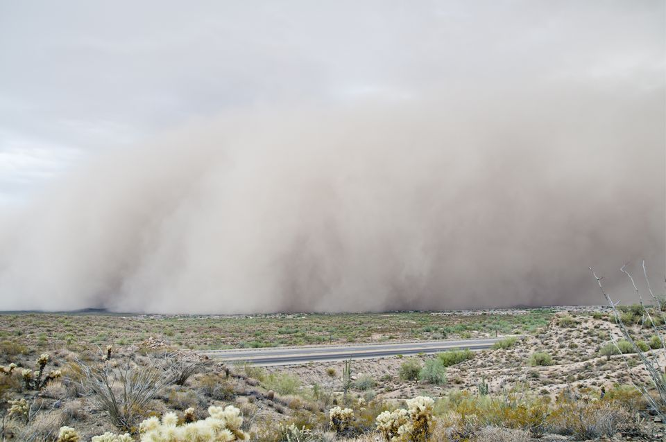 Dust Storm approaching near Phoenix