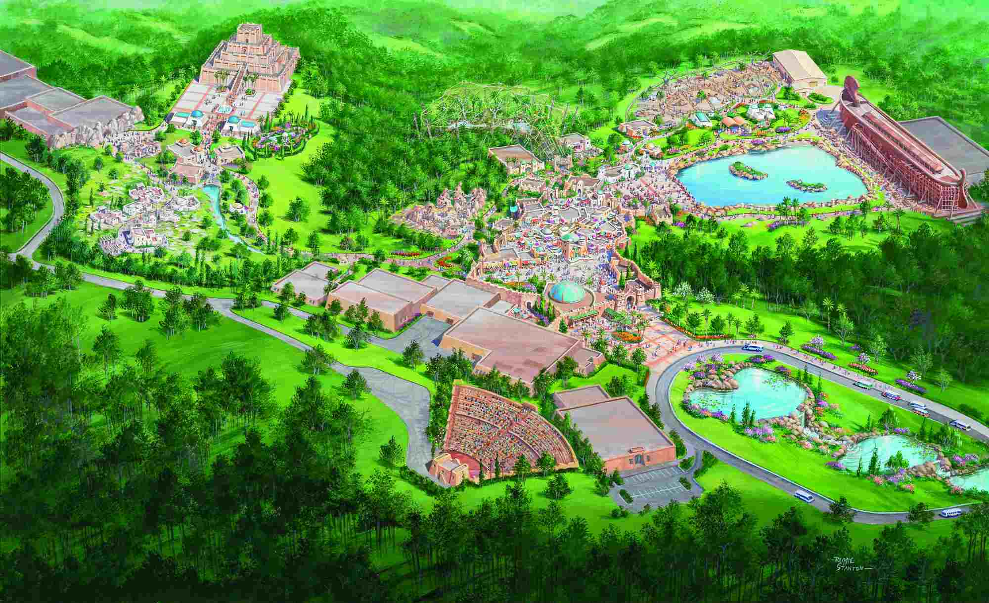 Future phases of Ark Encounter park.