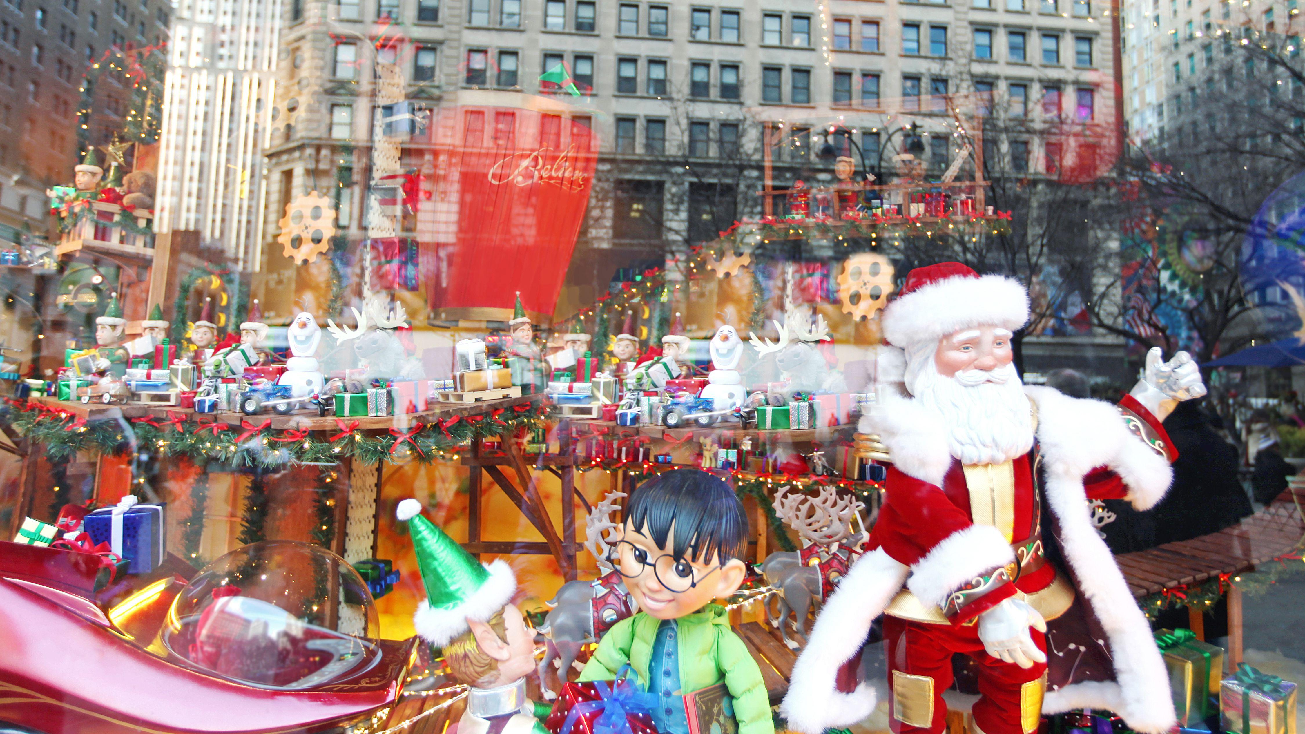 Santa at Macy's Santaland in New York City