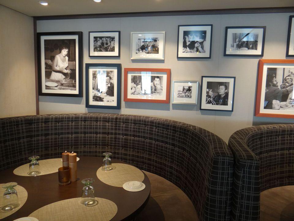 Restaurante italiano Manfredi en el crucero Viking Star